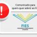 COMUNICADOS FIES