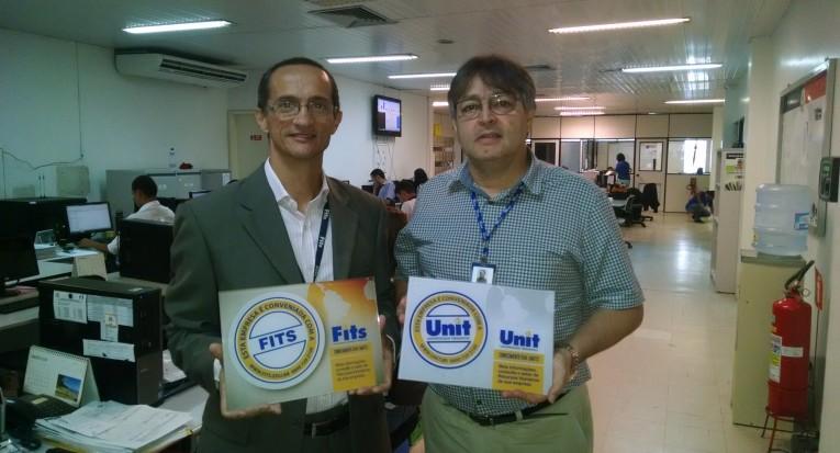 Luiz consultor comercial do Unit com Luiz Eugênio Duarte Santos  da Lojas Guido