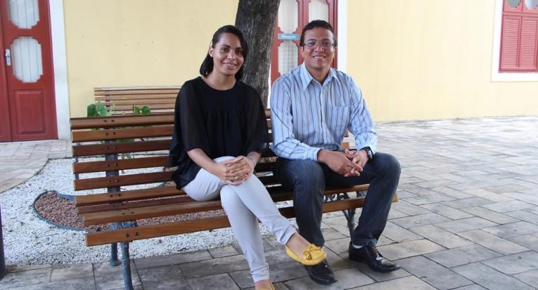 Aluna Jéssica e Professor Djair