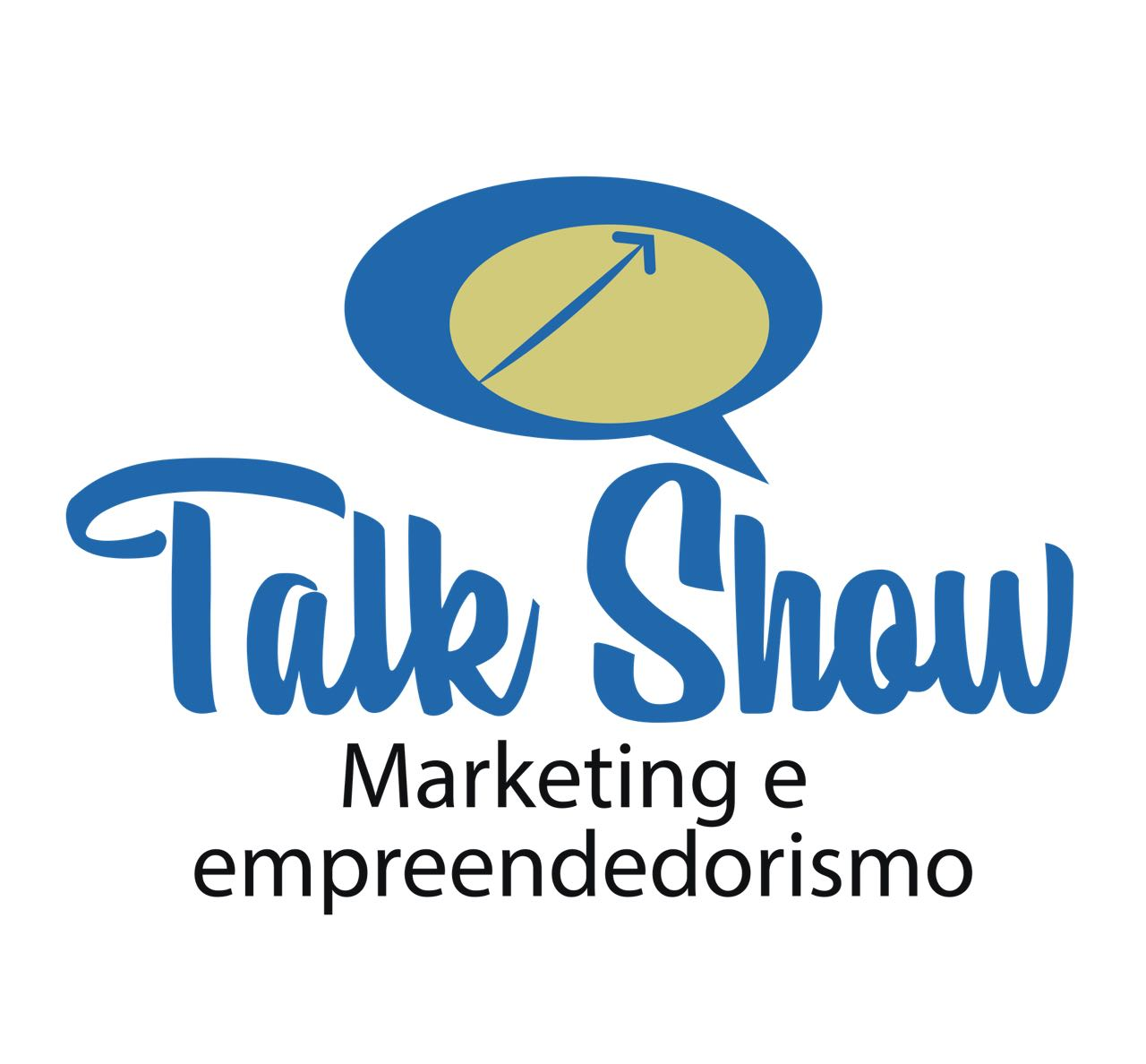 Talk logo with a subtle speech bubble on Inspirationde |Talk Show Logo