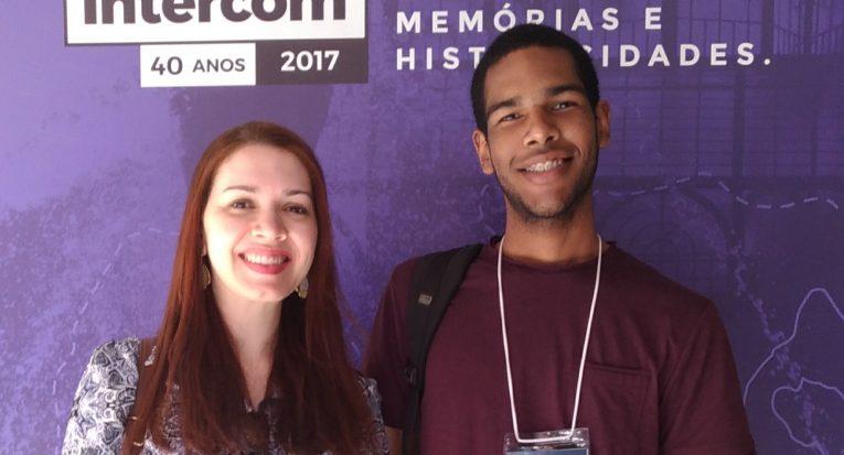 Professora Danielle Cândido e o aluno Anderson Inácio