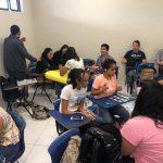 Alunos do 9º período de Fisioterapia participam de aula interativa