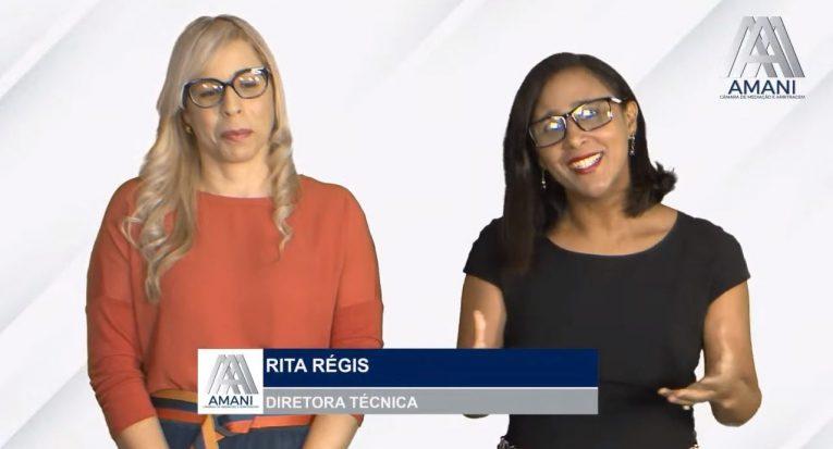 Professora da Unit/AL Marizângela Melo e a Coordenadora do NPJ, Rita Régis