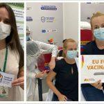 Profissionais da saúde imunizados incentivam uso de máscaras e vacinação