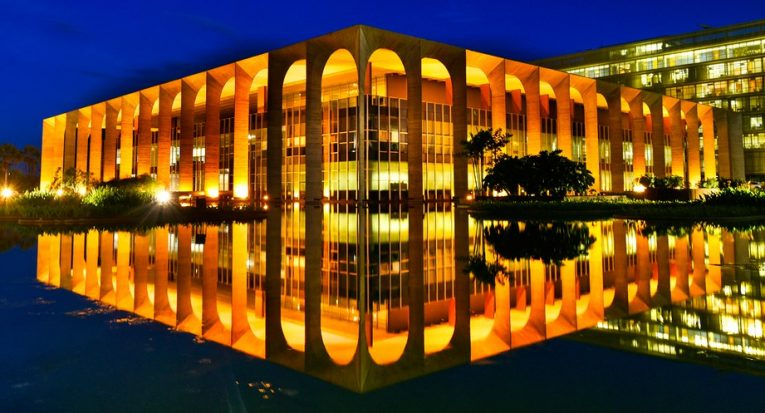 O Palácio Itamaraty, sede do Ministério das Relações Exteriores, em Brasília (Divulgação/MRE)