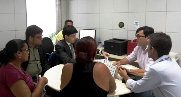 Audiência de conciliação no NPJ da Unit Pernambuco, no Recife (Arquivo)