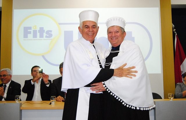 Jouberto Uchôa, Fundador do Grupo Tiradentes e Dario Arcanjo, Reitor da Unit